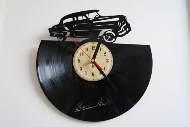 1953 Bel Air vinyl record wall clock bedroom playroom office home art shop club