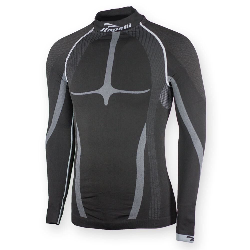 Cycling Compression Layer, Long Sleeve, Men Polyester, Rogelli