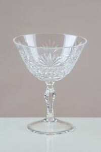 Fantail-6-Champagne-Coupe-Saucers-24-LEAD-CRYSTAL-100-HANDMADE