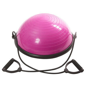 "23"" Inch Balance Ball Yoga Exercise Fitness Trainer Gym W/ Resistance Bands Pump"