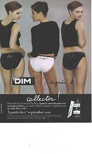 PUBLICITE ADVERTISING 2011 DIM  collector slip soutien gorge par AGNES B