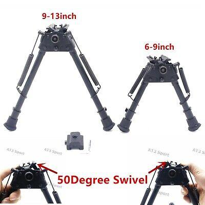 6,9,13inch Harris Bipods Adjustable Tactical Stabilzer 50Degree Swivel /& Adapter