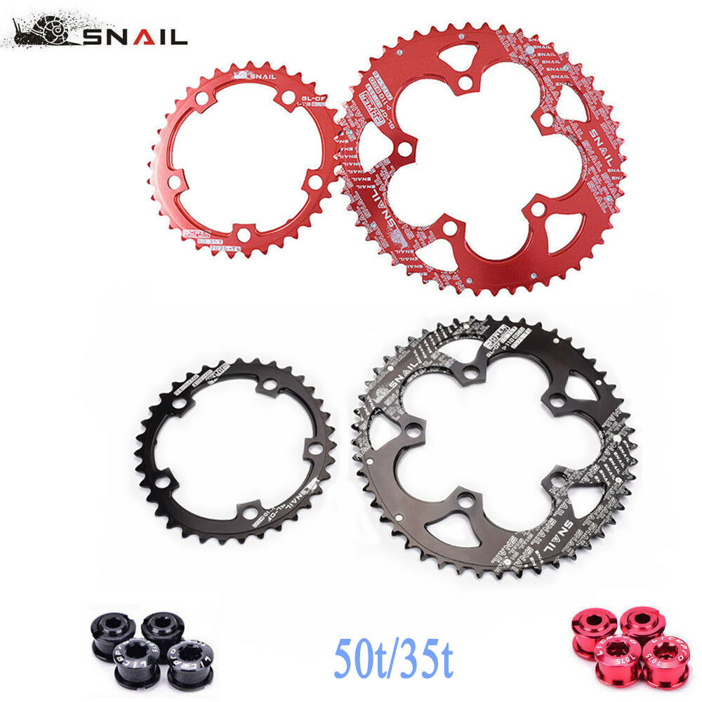 SNAIL 110BCD 50 35T Road Bike Chainring Double Oval Chainwheel Fit Sram,Shimano