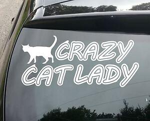 Crazy-Cat-Lady-Funny-van-car-Jdm-Vw-Dub-Vag-euro-Vinilo-calcomania-adhesivo