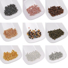 Wholesale Metal Round Spacer Bead Smooth Ball End Bead For Jewelry Making 2-10mm