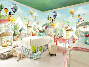 3D-Sky-Color-House-83-Wallpaper-Mural-Paper-Wall-Print-Wallpaper-Murals-UK-Carly