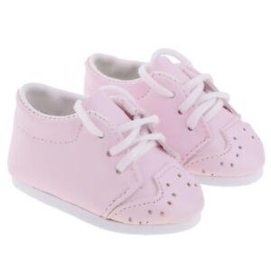 Chaussures-de-Poupee-en-Cuir-Rose-pour-18-039-039-AG-American-Doll-Dolls-Accessoires