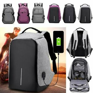7db62f36a1b Image is loading Unisex-Anti-Theft-Backpack-Travel-Business-Laptop-Bag-