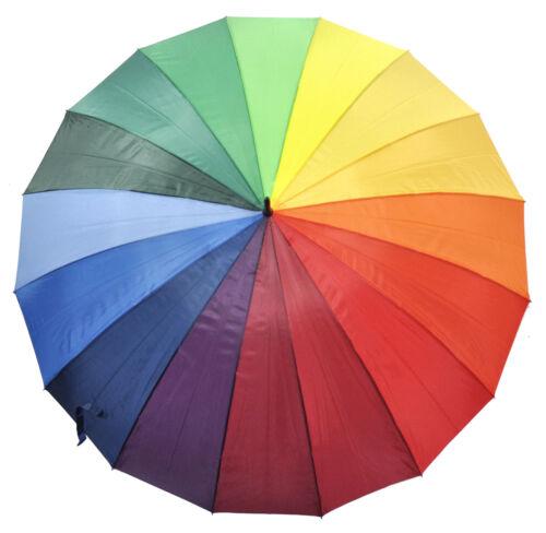XXL Regenschirm Partnerschirm Regenbogen Schirm Ø130cm für 2 Personen