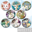 8pcs Anime BEASTARS Legosi haru Badges Itabag Button Cosplay Pin Brooch#R1691