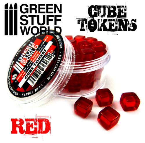 Resources Markers Tabletop /& Card Board Games Materials RED Cube Tokens