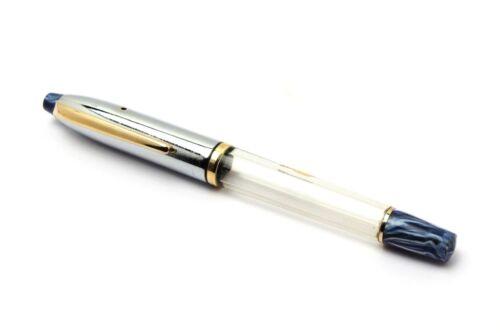 Buy 1 Get 1 Free Blue Wality Demonstrator Eyedropper Fountain Pen Silver Cap