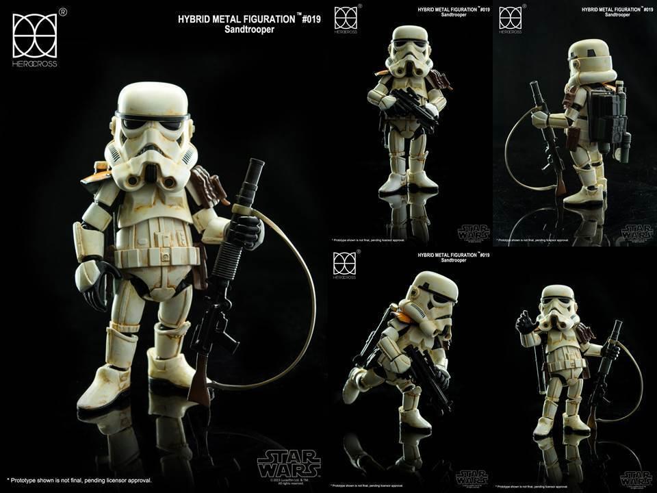 tienda Estrella Estrella Estrella Wars Sandtrooper Herocross Hybrid Metal figuración HMF 019 Sandtrooper  barato y de alta calidad