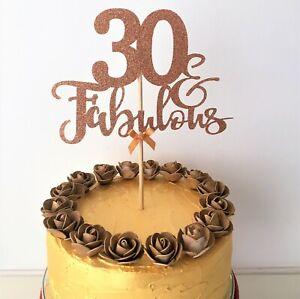 Enjoyable 30 Fabulous Cake Topper 30Th Birthday Centrepiece Thirty Years Funny Birthday Cards Online Barepcheapnameinfo