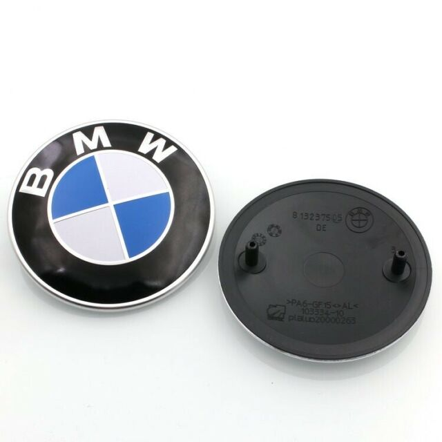 BMW STANDARD BLUE And WHITE 82MM BONNET OR BOOT ROUNDEL