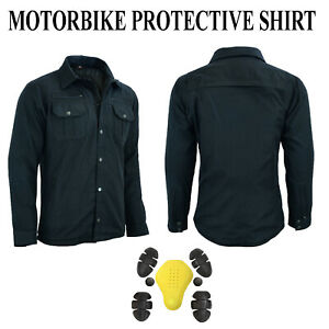 Motorbike Motorcycle Shirt Jacket Aramid Lined Protection With CE Armur Biker UK