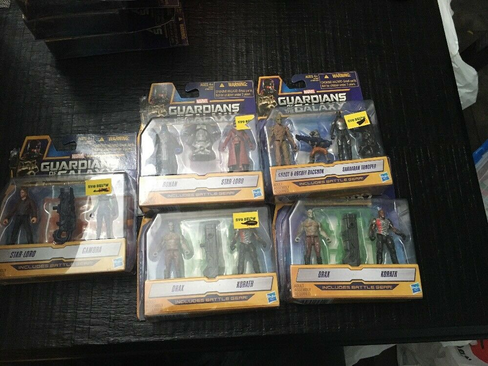 Marvel Guardians of The Galaxy Lot of 5 Moc with Figure Battle Gear Hasbro