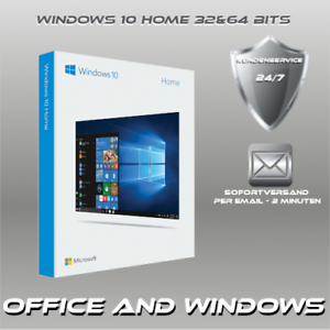 Microsoft Windows 10 Home 3264 Bits Oem Win 10 Home Produkt Key