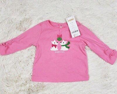 New Gymboree pink long sleeve shirt girls 3-6 m Super Star