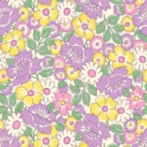 Nana Mae II 1930/'s Reproduction Packed Floral Quilt Fabric Style 6923//55 Lilac