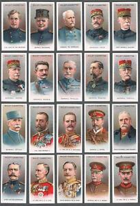 1917-Wills-s-Cigarettes-Allied-Army-Leaders-Tobacco-Cards-Complete-Set-of-50