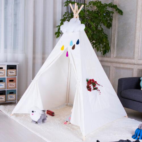 Tipi Enfants Tente Toile de Coton Tipi Pour Enfants indiens Teepee Jouet
