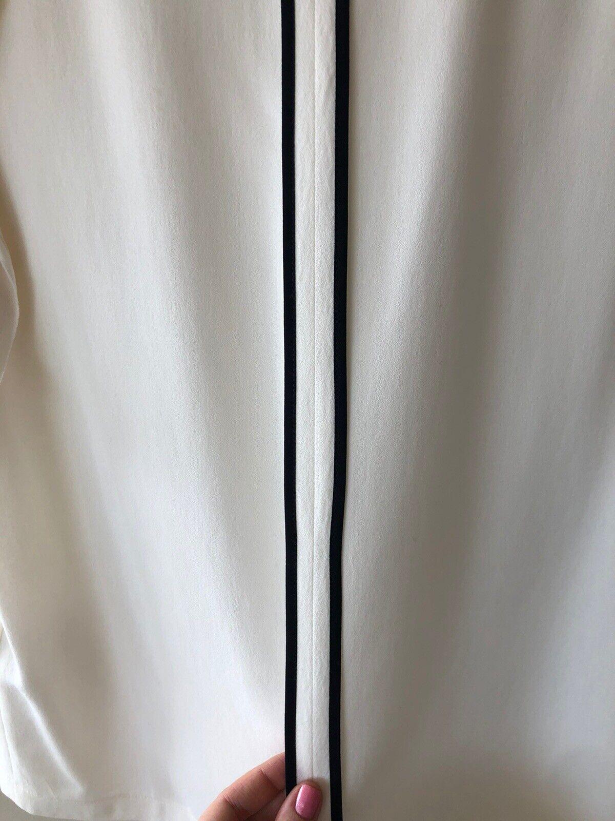 FENDI Silk Ruffle White Ivory Top Blouse SZ 44 - image 10