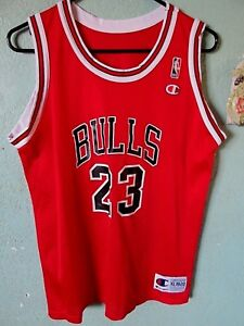 official photos c560c ccfb7 Details about CHICAGO BULLS MICHAEL JORDAN JERSEY SIZE YOUTH XL 18/20  CHAMPION