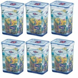 Image is loading 6-X-LOCK-&-LOCK-PASTA-FOOD-DRY-  sc 1 st  eBay & 6 X LOCK u0026 LOCK PASTA FOOD DRY FOOD STORAGE CONTAINER 1.3L HPL809 | eBay