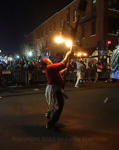 Flambeaux Night Parade Mardi Gras New Orleans 8x10 Photo Signed