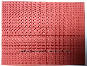Triangle-Repetition-Unmounted-RUBBER-Texture-Stamp-Polymer-PMC-Clay-Molding-Mat