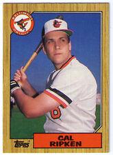 1987 Topps Cal Ripken Baltimore Orioles 784 Baseball Card