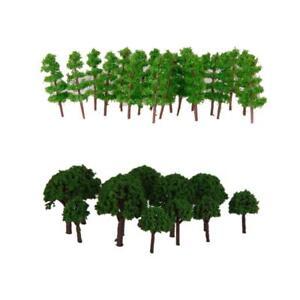 150Pcs/Pack Green Tree  :400-500 Z Train Railway Scenery Building Toy