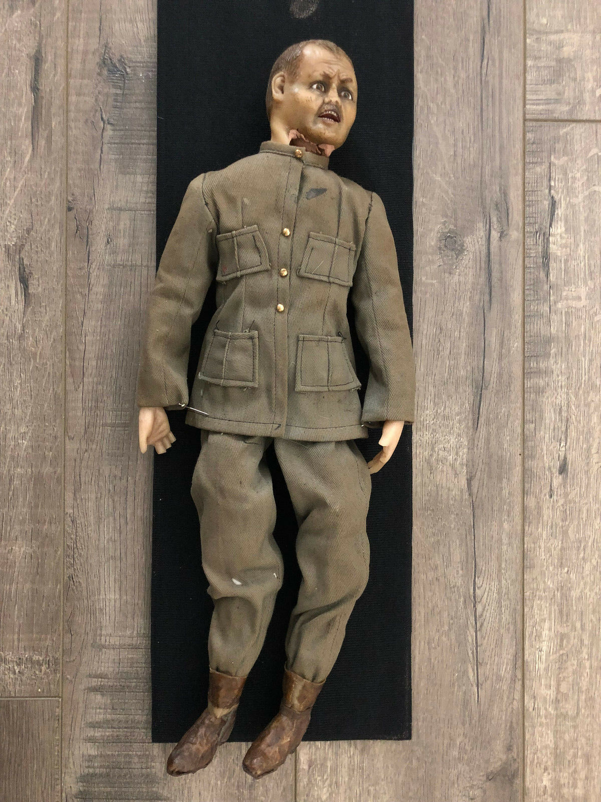 Antiguo español American War primera Guerra Mundial Soldado De Muñeca De Cera 20  de altura