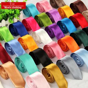 Fashion-Men-039-s-Solid-Knit-Knitted-Tie-Necktie-Tie-Narrow-Slim-Skinny-Woven-New