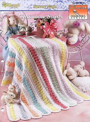 Rainbow Swirls Baby Afghan, Crochet Collector's Sensational Afghans pattern