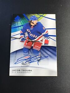 2019-20-SP-GAME-USED-JACOB-TROUBA-AUTO-SIGNED-BASE-30-NEW-YORK-RANGERS