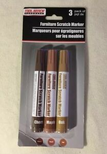 FURNITURE-SCRATCH-MARKERS-TOUCH-UP-PENS-3-PACK-STAIN-REPAIR-CHERRY-MAPLE-OAK