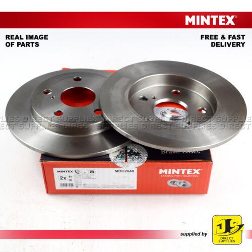 2 Mintex Trasero Freno De Disco MDC2048 Toyota Auris Corolla Sedan /_ E15 /_ /_ E18 /_ ZRE17 /_