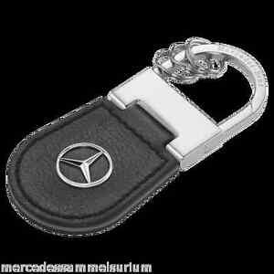"Mercedes Benz Original Key Ring ""Shanghai"" Leather Black NIP"