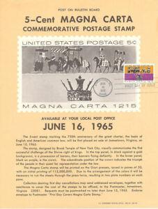 1265-5c-Magna-Carta-Stamp-Poster-Unofficial-Souvenir-Page-Flat