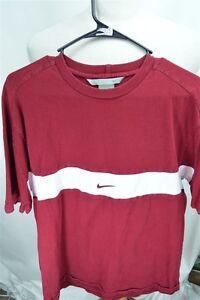 Nike-Large-Red-White-Short-Sleeve-Men-039-s-SHIRT