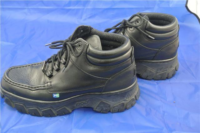 POD schuhe WORK SCHOOL Stiefel Größe 8 UK SMOOTH LEATHER schwarz LACE UP SOLE TRAINER