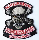CRIPPLED OLD BIKER BASTARDS MC EMBROIDERED PATCH RIDE HARLEY BIKER VEST OUTLAW