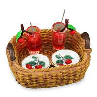Reutter Porzellan Garden Tray / Cherry Sparkler Cocktail Set Dollhouse 1:12