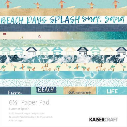 "KAISERCRAFT Scrapbooking 6.5/"" Paper Pads Summer Splash Nini/'s Things"