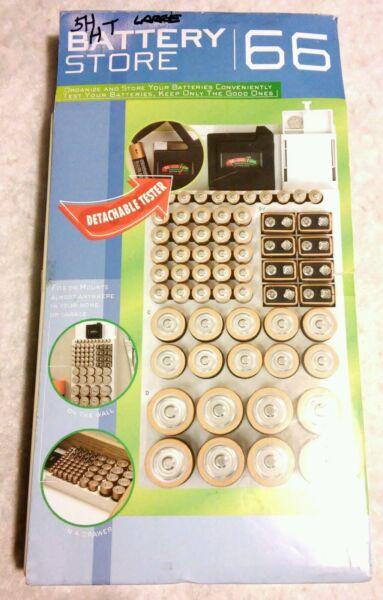 Beschouwend Rare New - 66 Battery Rack Storer Organizer + Built-in Detachable Battery Tester