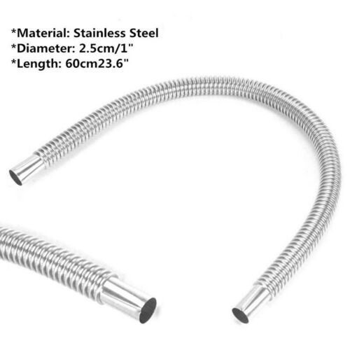 Silver Exhaust Pipe Accessory 60CM Stainless Steel Car Parking Air Diesel Heater