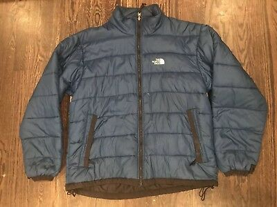 8ab70a955 EUC VTG The North Face Men's BLUE Puffer Jacket - Size XL - 600 Fill Goose  Down | eBay