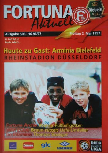 Bielefeld Programm 1996//97 Fortuna Düsseldorf Arm